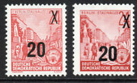 East Germany Both 20pf on 24pf Rare Stamp 1954-55 Unmounted Mint  (5310)