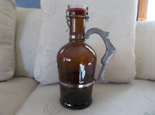 2-Liter Glass Beer Growler Bottle w/ custom handle from Deschutes Brewery EUC