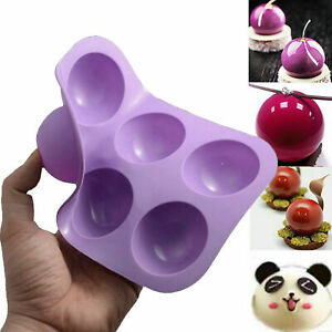 6 Half Ball Sphere Silicone Cake Mold Chocolate Cookie Ice Candy Baking Mould