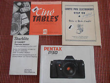 lot de 4 catalogues CINE TABLES - PENTAX - STIP 94 ( ref 20 )