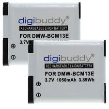2 x Akku für Panasonic Lumix DMC-TZ61 / DMC-TZ71 - DMW-BCM13-E - 1050mAh