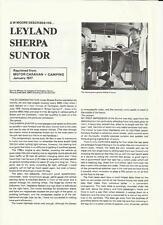 LEYLAND SHERPA SUNTOR MOTOR CARAVAN 'IMPRESSSIONS 'SALE BROCHURE'/SHEET JAN 1977