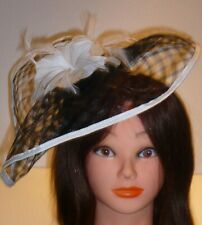 COAST Black and white Alice band special occasion fascinator feather trim