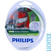 H4 PHILIPS LongLife EcoVision - Scheinwerfer Lampe - DUO-Pack NEU