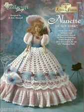 Nanette of New York Ladies of Fashion Crochet Gown Pattern for Barbie Dolls NEW