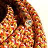 Textilkabel, Leitung Faser umflochten, rund, Rio Orange, 3x0,75 H03VV