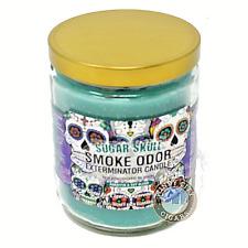 Smoke Odor Exterminator Candle Sugar Skull 13oz