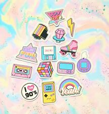 40 Pack Paper Retro 90s Girl Stickers
