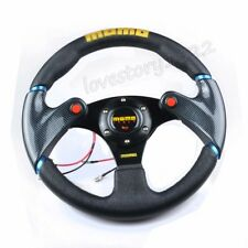 Black Car 320mm /13 inch Racing Steering Wheel with Horn Button PVC Leather