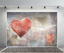 6x4fT Valentine'S Day Heart Wall Photography Background Backdrops Studio Props