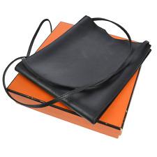 Auth HERMES ONIMAITOU Cross Body Shoulder Bag Black Box Calf VTG France F01773