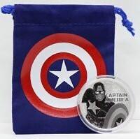 Captain America 2019 Silver Coin 1 oz Avengers Tuvalu MARVEL Comics $1 w/ Pouch