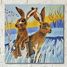 Bright New Day Hare Judith Yates 8x8 Decorative Ceramic Picture Art Tile 05898