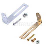 2 Pcs Guitar Pickguard Bracket w/screws Gold/Chrome for Electric Guitar Parts