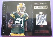 CHARLES WOODSON 2012 PANINI BLACK GAME WORN AUTOGRAPHED SHOE PATCH # 3/4 RARE