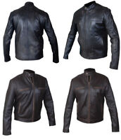 Mark Wahlberg Contraband Genuine Leather Jacket Vintage Brown & Black Available