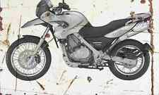 BMW F650GS 2004 Aged Vintage SIGN A3 LARGE Retro