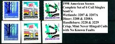 1998 American Scenes Set of 6 Coils MNH Sc 3207 3207A 3208 3208A 3228 & 3229