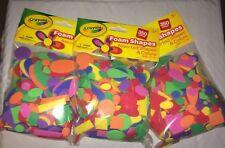 Lot Of 3 Pkgs- Kids Crafts, Projects, Scrapbooking -Crayola Foam Cutouts-Shapes