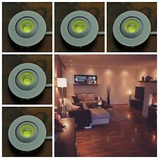 5X 3W LED COB Mini Spot Encastré Lampe Encastable Eclairage Plafond Chaud 220V