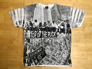 NEW YORK ROCKEFELLER TOURIST  T-SHIRT  TOP OF THE ROCK