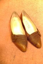 "Women's Bruno Magli Chestnut Leather/Chestnut Skin Accent 2"" Heel Pump Sz EU 40M"