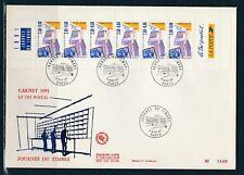 grande enveloppe 1er jour  bande de carnet journée du timbre Paris 1991
