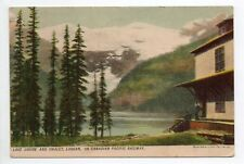 CANADA carte postale ancienne LAKE Louise and chalet LAGGAN