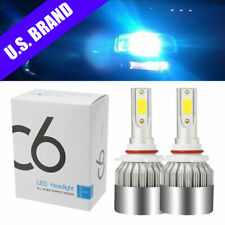 2PCS 9005 HB3 8000K Ice Blue LED Headlight 9000LM High Beam Bulbs Kit CREE Xenon