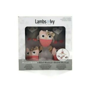 Lambs & Ivy Family Tree Owl Musical Mobile Baby Crib Lullaby Music Nursery New