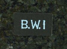 """WWII British Tab """"British West Indies""""."""