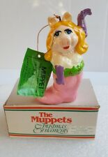 Miss Piggy The Muppets 1981 Vintage Keepsake Christmas Ornament Jim Henson Tags