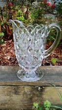 1892-1898 U.S. Glass EAPG Clear Glass Diamond Waffle 40 ounce Pitcher