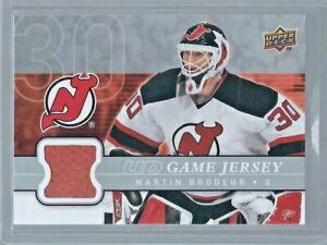 2008-09 Upper Deck Series 1 MARTIN BRODEUR UD Game Jersey GJ-MB NJ Devils HHOF