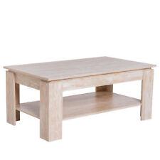 HOMCOM Tavolino da Caffè da Salotto Soggiorno Design Moderno Legno 110x65x47cm