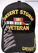 DESERT STORM VETERAN Cap / Hat w/Shadow Black New U.S. Military**Free Shipping**