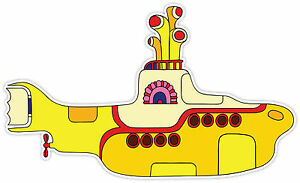 The Beatles Yellow Submarine  Sticker Decal *2 SIZES*  Vinyl Bumper Window WALL