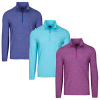 Greg Norman Performance Stretch Micro Stripe 1/4 Zip Pullover -Pick Color & Size
