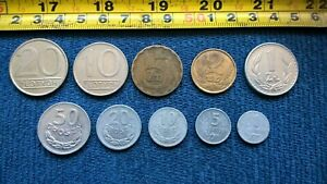 6-JOB LOT OF FOREIGN / Poland Coins > People's Republic
