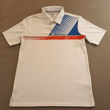 New listing Adidas Golf Mens Size Small White Golf Polo Shirt adizero Golfer Casual