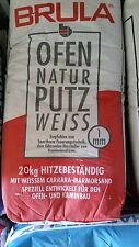 20kg Brula Ofenputz  Kachelofenputz Weißputz Putz Kachelofen Kaminputz