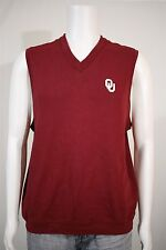 Ashworth Men's SMALL Oklahoma Sooners OUT Dark Red V-neck Golf Sweater Vest