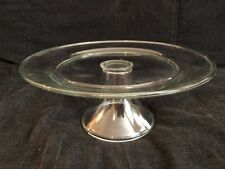 """Clear Glass Cake Stand 10 1/4"""""""