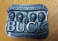 Vintage BUCK Knives Belt Buckle Four Generations of Knife Makers Smoky Mountain