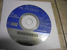 New! Genuine Brother HL2130 -HL2132 HL2220 Printer CD Software Drivers Utilities