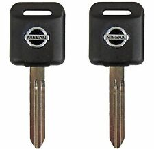 2 Ignition Key Blanks for Nissan Titan and Frontier. Transponder chip key ID 46