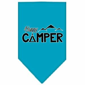 Mirage Pet Products Happy Camper Screen Print Bandana Lime Green Small