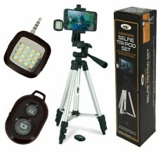 NGT Complete Selfie Tripod Set with Attachable Flash and Remote control