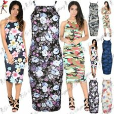 Strappy Stretch Midi Dresses for Women