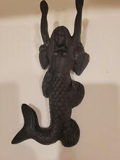 Vtg Reproduction 10� Mermaid Metal cast iro Door Stopper